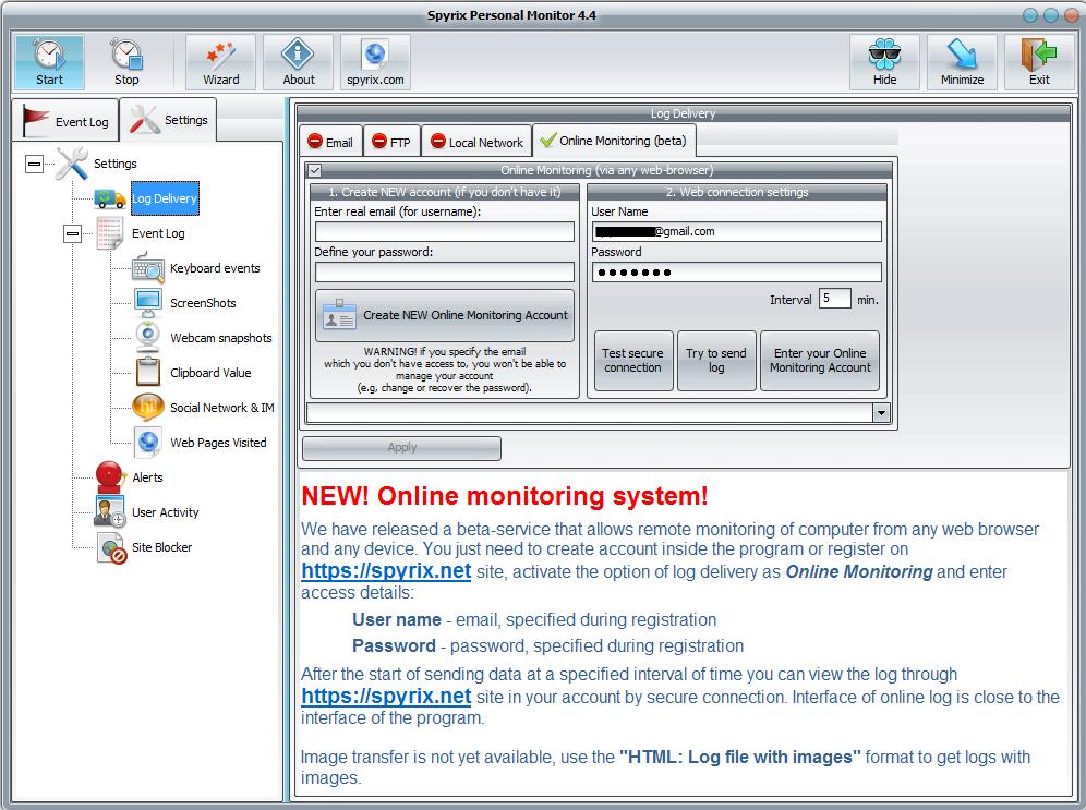 Spyrix personal monitor key